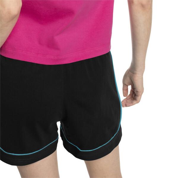 Shorts Chase para mujer, Cotton Black-Caribbean Sea, grande