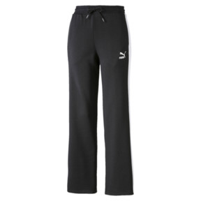 Miniaturka 1 Damskie spodnie Classics T7 proste, Cotton Black-Puma White, średnie