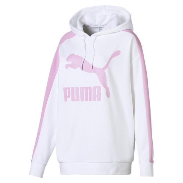 Classics Logo T7 Women's Hoodie, Puma White, large