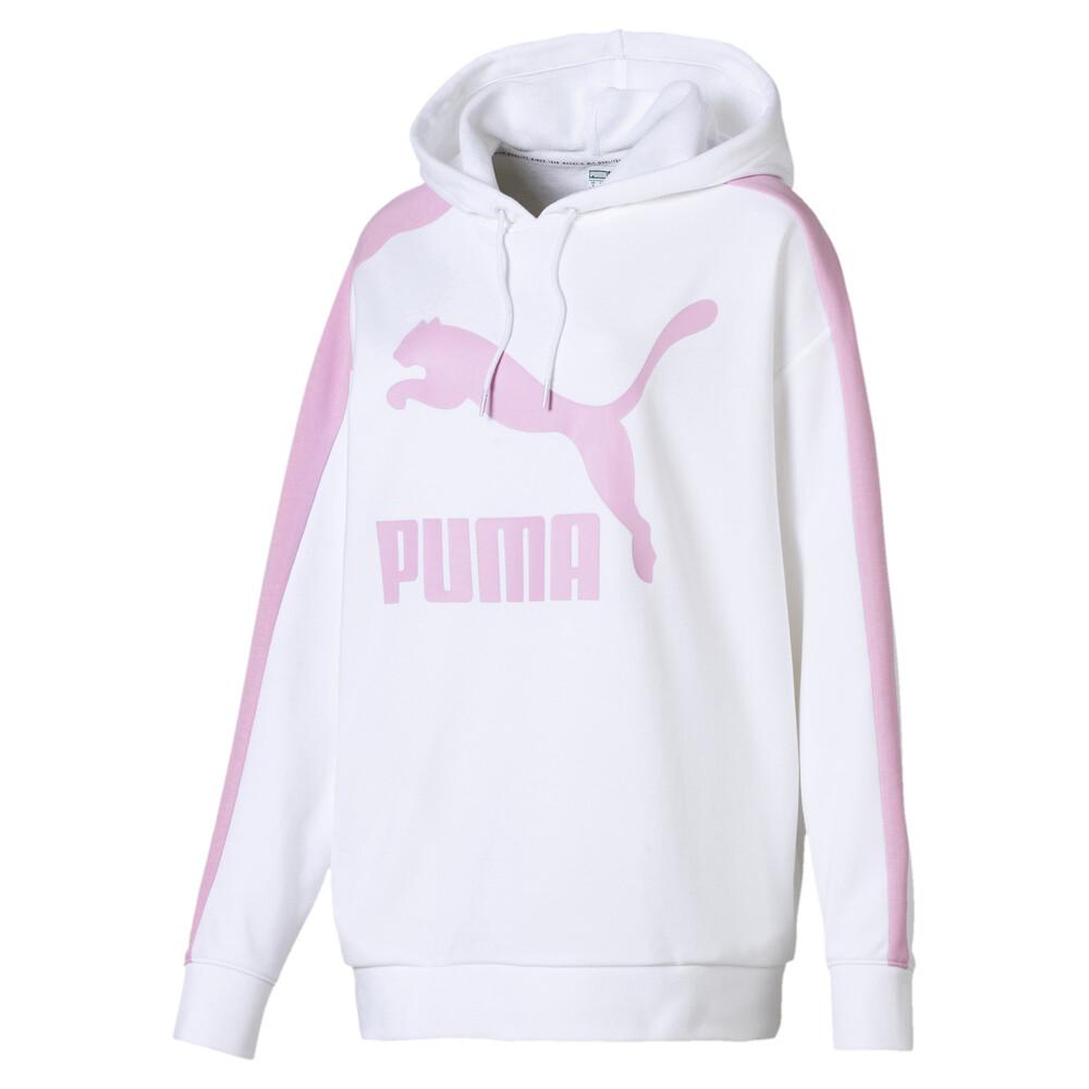 Görüntü Puma CLASSICS Logo T7 Kapüşonlu Kadın Sweatshirt #1