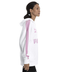 Thumbnail 2 of Classics Logo T7 Women's Hoodie, Puma White, medium