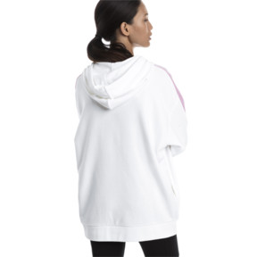 Thumbnail 3 of Classics Logo T7 Women's Hoodie, Puma White, medium