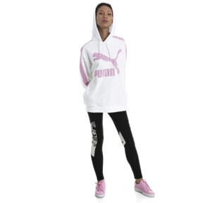 Thumbnail 5 of Classics Logo T7 Women's Hoodie, Puma White, medium