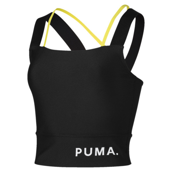 Chase crop top voor dames, Puma Black, large