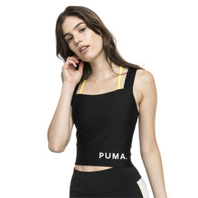 Thumbnail 1 van Chase crop top voor dames, Puma Black, medium