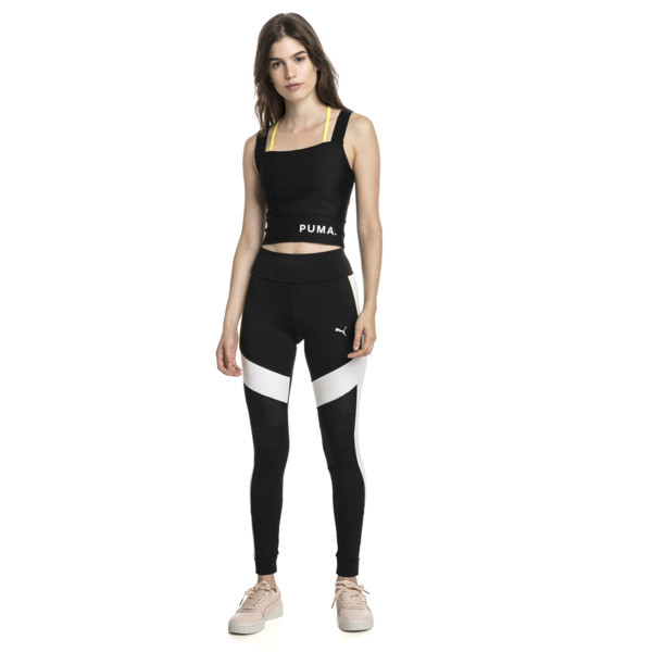 Chase Damen Crop Top, Puma Black, large