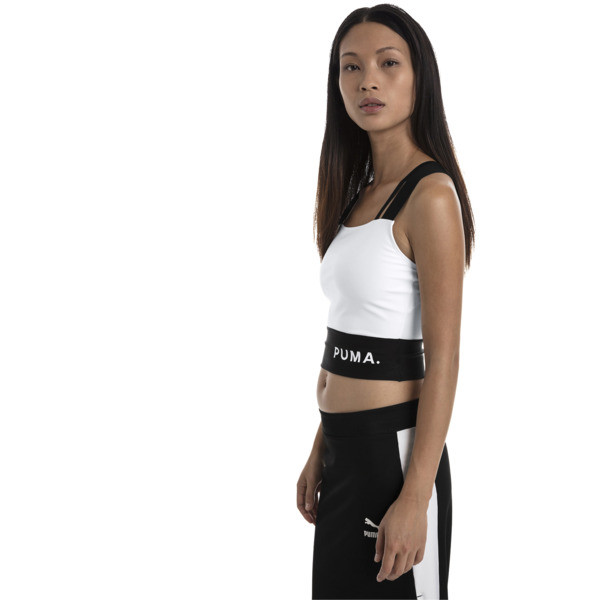 Chase Women's Crop Top, Puma White, large