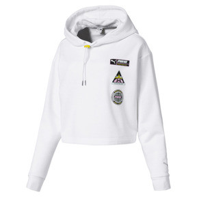 Thumbnail 4 of TZ Damen Hoodie, Puma White, medium