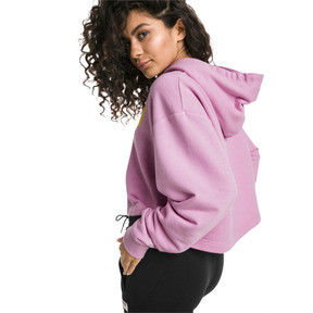 Thumbnail 2 of TZ Damen Hoodie, Pale Pink, medium