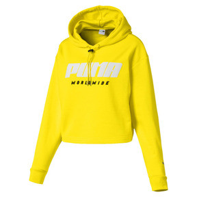 Thumbnail 4 of TZ Damen Hoodie, Blazing Yellow, medium