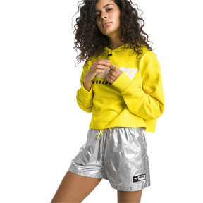 Thumbnail 1 of TZ Damen Hoodie, Blazing Yellow, medium