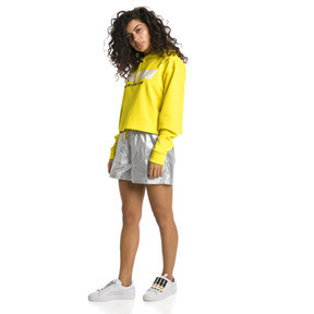 Thumbnail 3 of TZ Damen Hoodie, Blazing Yellow, medium