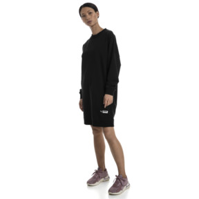 Thumbnail 3 of TZ Damen Langes Sweatshirt, Cotton Black, medium