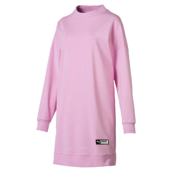 Trailblazer Long Crew Neck Women's Pullover, Pale Pink, large