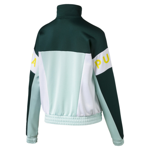 XTG 94 Women's Track Jacket, Fair Aqua, large