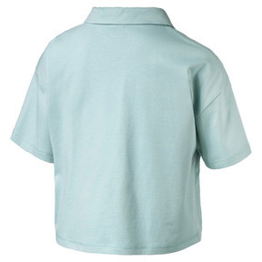 Thumbnail 4 of Downtown Women's Polo Shirt, Aquifer, medium