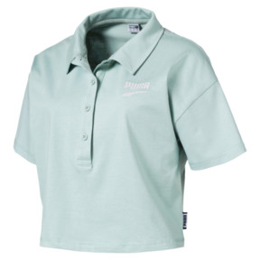 Thumbnail 1 of Downtown Women's Polo Shirt, Aquifer, medium