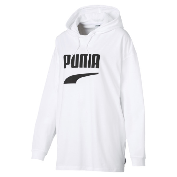 Downtown Women's Hoodie, Puma White, large