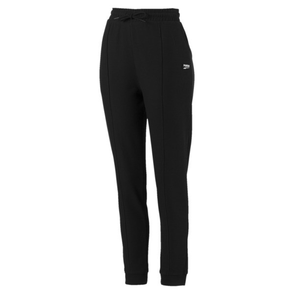 Downtown Tapered Women's Sweatpants, Puma Black, large