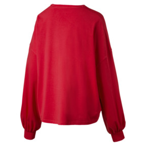 Thumbnail 3 of Classics Women's Long Sleeve Logo Top, Hibiscus, medium