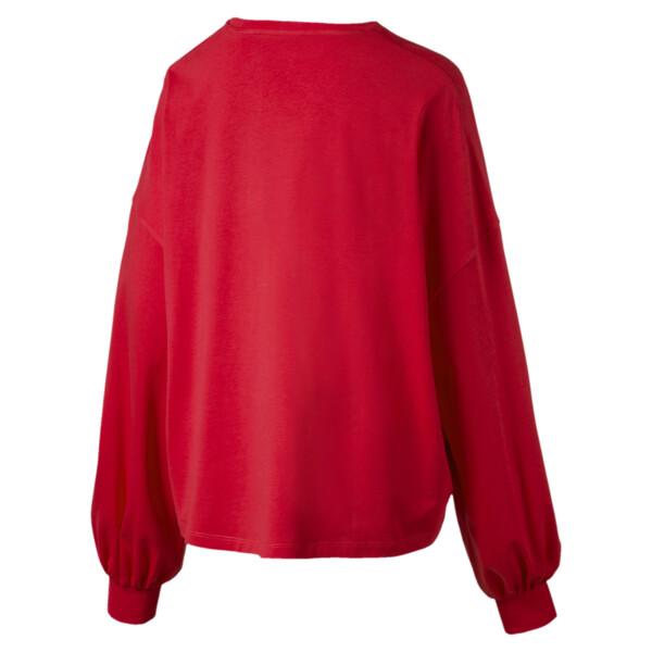 Camiseta Classics de mangas largas con logo para mujer, Hibiscus, grande