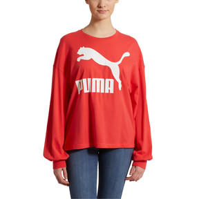 Thumbnail 2 of Classics Women's Long Sleeve Logo Top, Hibiscus, medium