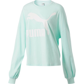 Thumbnail 1 of Classics Women's Long Sleeve Logo Top, Fair Aqua, medium