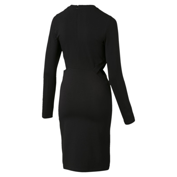 Classics Damen Enges Kleid, Cotton Black, large