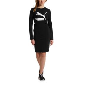 Thumbnail 2 of Classics Logo Women's Tight Dress, Cotton Black, medium