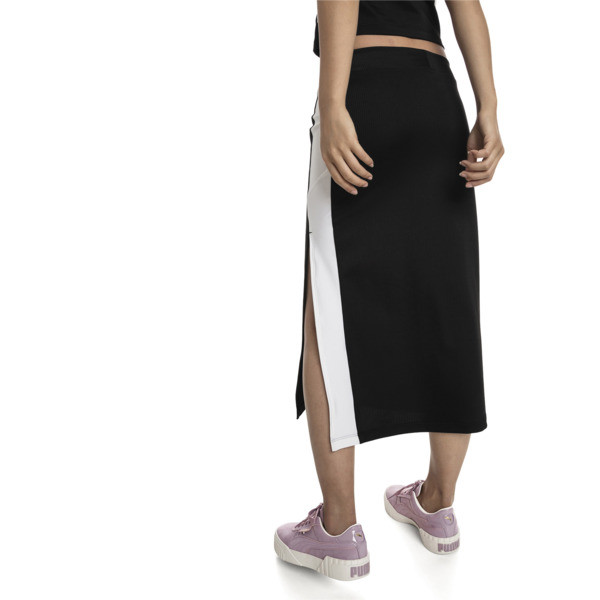 Classics Women's Rib Skirt, Puma Black, large