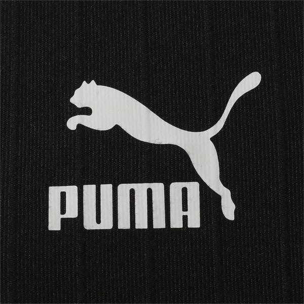 CLASSICS ウィメンズ リブ トップ (半袖), Puma Black, large-JPN