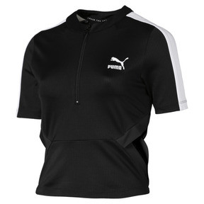 Thumbnail 4 of Classics Ribbed Women's Top, Puma Black, medium