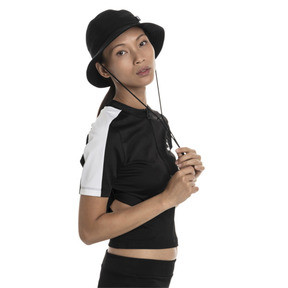 Thumbnail 2 of Classics Ribbed Women's Top, Puma Black, medium