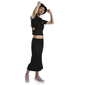 Thumbnail 3 of Classics Ribbed Women's Top, Puma Black, medium