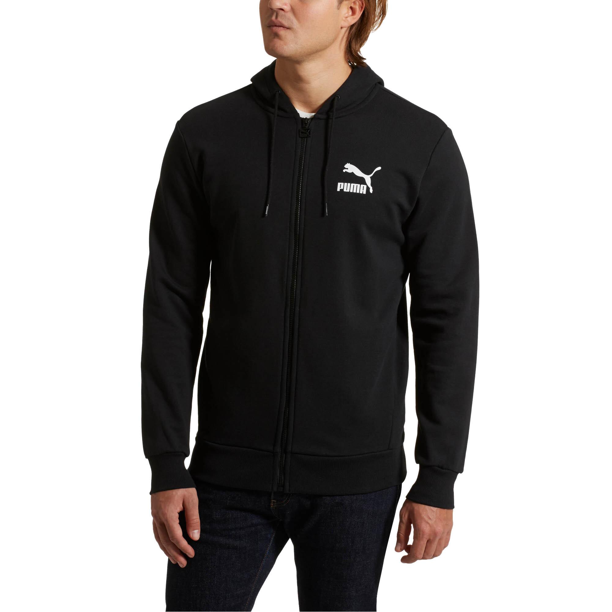 PUMA-Classics-Men-s-Full-Zip-Logo-Hoodie-Men-Sweat-Sport-Classics thumbnail 6