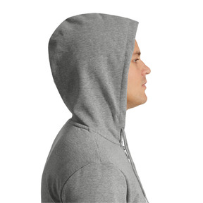 Thumbnail 3 of Classics Men's Full Zip Logo Hoodie, Medium Gray Heather, medium