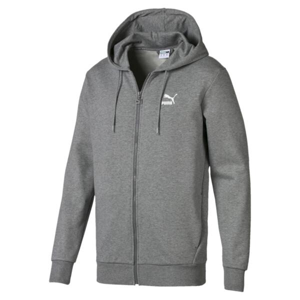 Classics Men's Full Zip Logo Hoodie, Medium Gray Heather, large