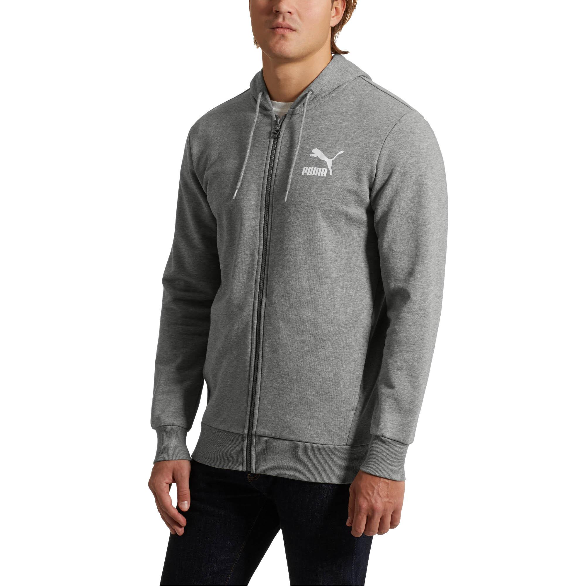 PUMA-Classics-Men-s-Full-Zip-Logo-Hoodie-Men-Sweat-Sport-Classics thumbnail 3