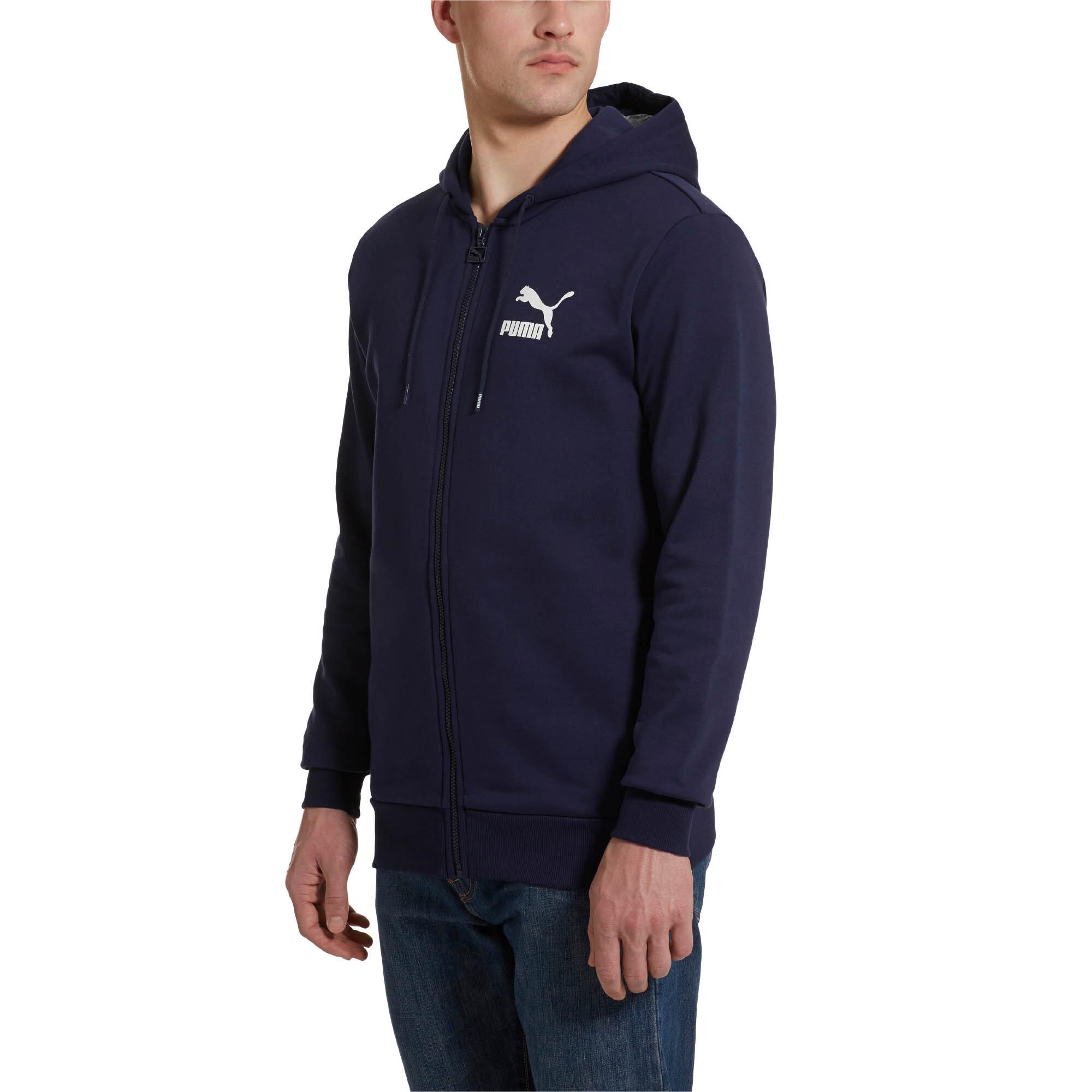 PUMA-Classics-Men-s-Full-Zip-Logo-Hoodie-Men-Sweat-Sport-Classics thumbnail 9