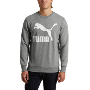 Thumbnail 2 of Classics Men's Logo Crewneck Sweatshirt, Medium Gray Heather, medium