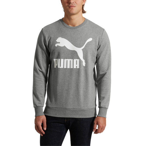 Classics Men's Logo Crewneck Sweatshirt, Medium Gray Heather, large