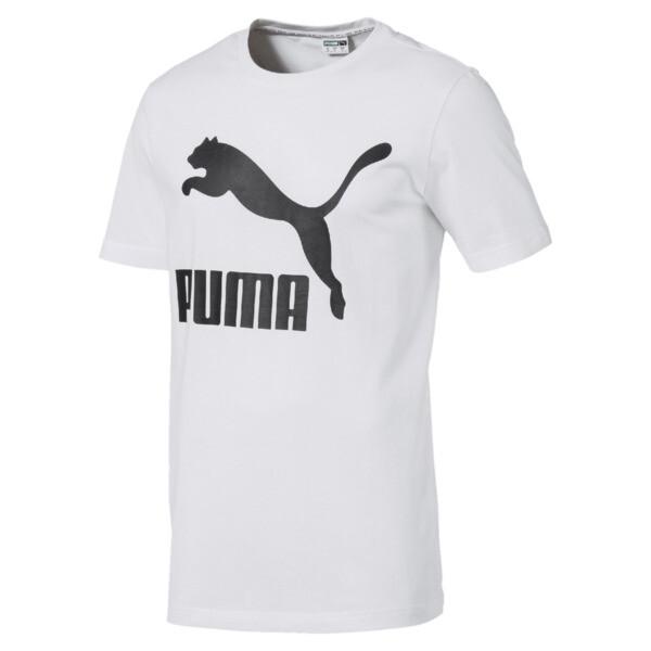 Camiseta de manga corta con logo de hombre Classics, Puma White, grande