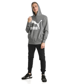 Thumbnail 3 of Classics Logo Men's Hoodie, Medium Gray Heather, medium