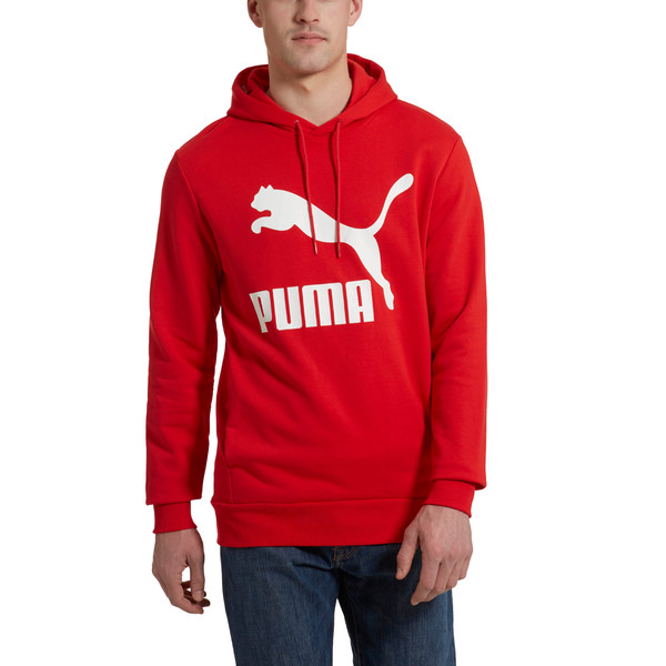 Classics Men's Logo Hoodie, High Risk Red, large