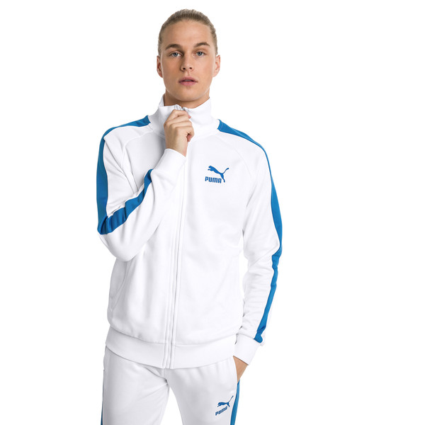 Iconic T7 PT Men's Track Jacket, Puma White, large