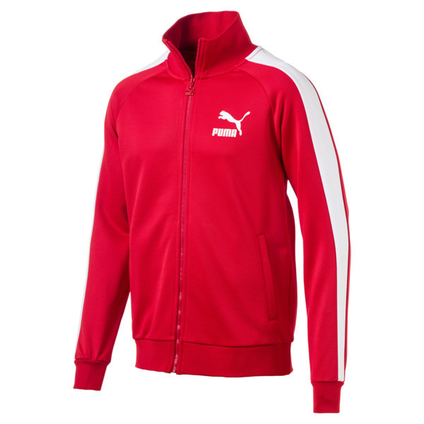 Iconic T7 PT Men's Track Jacket, High Risk Red, large