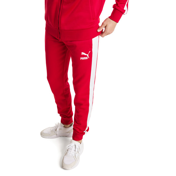 Iconic T7 Kntted Men's Sweatpants, High Risk Red, large