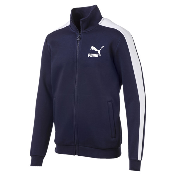 Archive Iconic T7 Double Knit Men's Track Jacket, Peacoat, large
