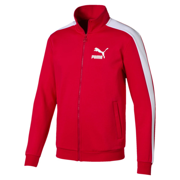 Archive Iconic T7 Double Knit Men's Track Jacket, High Risk Red, large