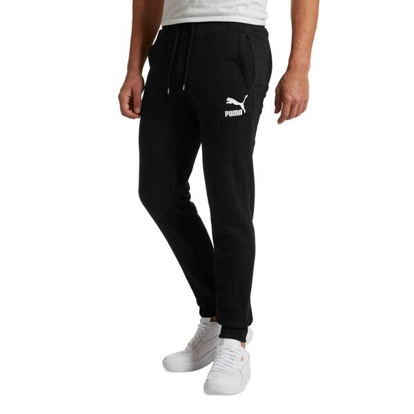 Classics Men's Cuffed Sweatpants, Cotton Black, large